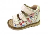 .MyMini сандалии 124-S30-1 белый/яркие  цветы