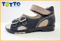 Тотто сандалии джинс/беж