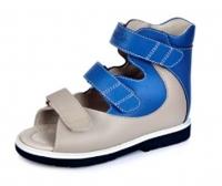 ОРТОДОН сандалии завышенный жёсткий берец 1333 голубой/серый
