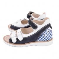 ..TAPIBOO сандалии синий/белый/клетка