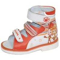 ОРТОДОН сандалии завышенный жёсткий берец  2802 фиксик/оранжевый/белый