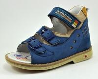 Minitin сандалии Синий/беж