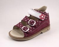 Minitin сандалии розовый/горох