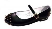 .Minitin туфли школьные черный/шипы