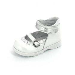 Тотто туфли белый/серебро