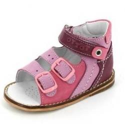 Тотто сандалии 022 кожаная подошва, розовый