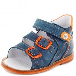 Тотто сандалии 022-13-15 синий/оранжевый